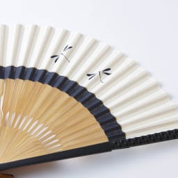 [メンズ]白竹堂 えんぎもの扇子 木箱入り (ア)蜻蛉(とんぼ)