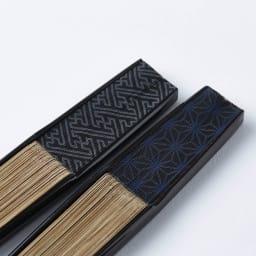 [メンズ]白竹堂 京扇子(脇彩小紋) 桐箱入り 扇子の脇に小紋柄をプリント。さりげない柄