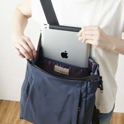 BASARA TYO/バサラ ファビオ はっ水軽量リュック リュックの中面にも、タブレット入れにも便利な大ポケットと、