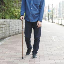 カインドケア/軽量折り畳み式伸縮ステッキ(日本製)  (イ)ブラウン