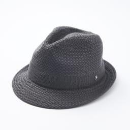【メンズ】 ドン・ベルモード ウオッシャブルシルク使いの石目編み中折れハット (イ)チャコール