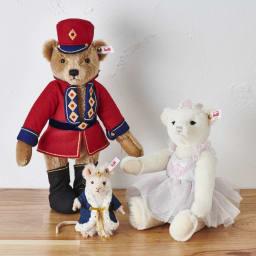 Steiff/シュタイフ シュガープラムフェアリー (左)GF0771ナットクラッカー(くるみ割り人形) (真中)GF0772マウスキング(ネズミの王様)と  「くるみ割り人形」の世界が楽しめるシリーズです
