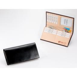 ブライドルレザー長財布(名入れ刻印・名入れオーダー) (ア)ブラック