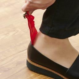 KISSO/キッソオ 靴ベラキーホルダー(選べる2個組) レッド 靴ベラになります。