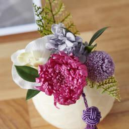 灯る仏花 フラワー プリザーブドなので水やり不要・お手入れ簡単。