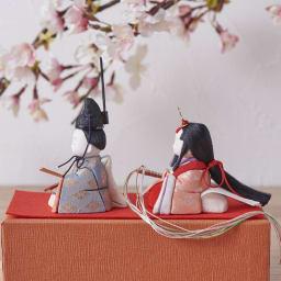 とのとひめ 雛人形 (イ)淡ピンク&ブルー(四つ菱文様)※こちらの色は完売しました
