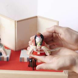 桐箱入とのとひめ 雛人形 置く場所を選ばないミニサイズ