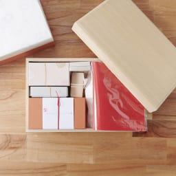 桐箱入とのとひめ 雛人形 桐箱にすべておさまり、収納時場所をとりません。