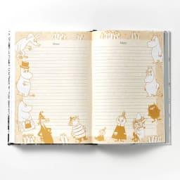 【ディノス限定販売】MOOMIN/ムーミン フルカラー5年日記(連用日記) 名入れなし 自由に書き込める「メモページ」もご用意!キャラクターが大集合したにぎやかなページです。