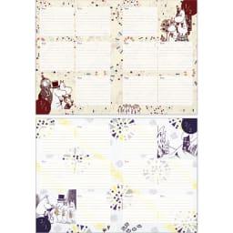 【ディノス限定販売】MOOMIN/ムーミン フルカラー5年日記(連用日記) 名入れなし 1月・2月日記ページ