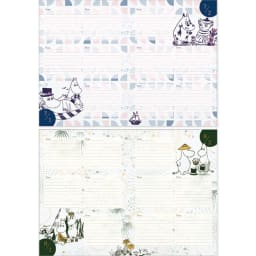 【ディノス限定販売】MOOMIN/ムーミン フルカラー5年日記(連用日記) 名入れなし 7月・8月日記ページ