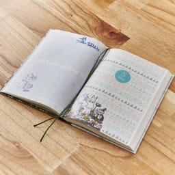 【ディノス限定販売】MOOMIN/ムーミン フルカラー5年日記(連用日記) 名入れあり 記入している日やメモページなど、複数ページをマークするのに使いやすいしおり2本付きです