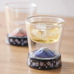 有田焼 富士グラス 身近に飾って眺めるだけでも嬉しい!手前はGF0927富士グラス金。