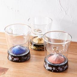 有田焼 富士グラス (金) 小物入れにしても。手前はGF0926富士グラス(赤・青)。