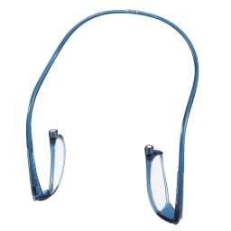 クリックリーダーリーディンググラス レンズ部分が内側に倒れ、不用意な傷を防ぎます。 ※画像はお届けの色と異なります