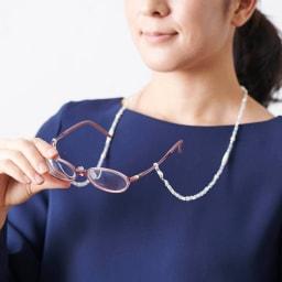 3WAY グラスホルダー&ネックレス  着用例
