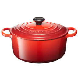LE CREUSET/ル・クルーゼ シグニチャー ココット・ロンド 24cm (ウ)チェリーレッド