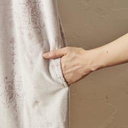 ミッシェル クラン タオルドレス(ルームウェア)  ピンク・ブルー BOXいり ポケット付きで便利。