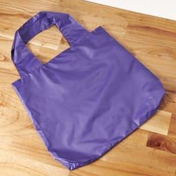 ムーミン 大容量!畳めるエコバッグ (ウ)ミイパープル 背面
