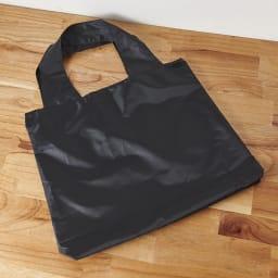 ムーミン 大容量!畳めるエコバッグ (ア)ムーミンブラック 背面