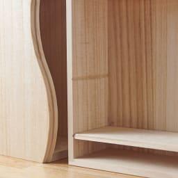 想ひ箱 日本製ミニ仏壇 ナチュラル    中の板は2段階で調整可能。