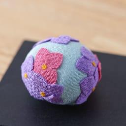夢み屋 お供えちりめん京菓子       (イ)ブルー系 紫陽花
