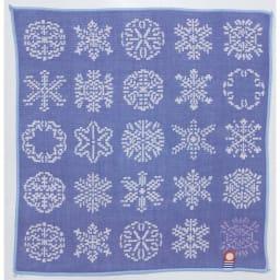 サラリとした肌触り!紀尾井【今治】ガーゼタオルハンカチ 柄が選べる2枚組 (イ)雪華模様 雪の結晶を花にたとえた模様。暑気払いの意味も込められています。