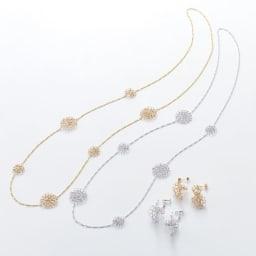 Tsunagari /タカハシナオミ クロッシェ ピアス 同シリーズのネックレスと合わせるとおしゃれです。