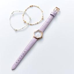 幸せの八角形ウォッチブレスレット付き   セット内容(イ)ピンク