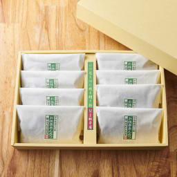 銚子屋 お抹茶あんみつ8袋 ギフトボックス入り【8月上旬お届け】 きれいに個装され、ギフトボックス入りで、贈呈用にもおすすめです。