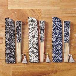 白竹堂 コットンレース マーガレット扇子 収納袋付きで持ち運びにも便利。