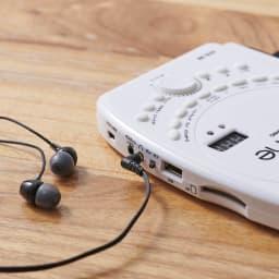 ロールアップピアノ お手持ちのヘッドフォンを接続すれば、夜間の練習も安心。