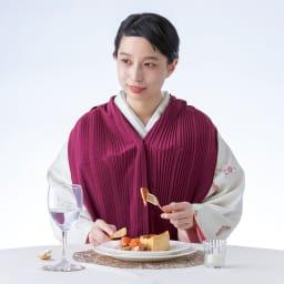 お食事プリーツエプロン 日本製