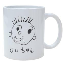 似顔絵 お仕立券 オーダーハンカチ&マグカップ マグカップに印字するイラストは、お届けしたお仕立券にてプリントの色を黒・ピンク・青・緑・茶から選択できます。(画像は黒)