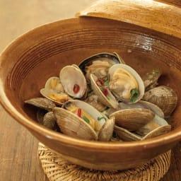 伊賀焼長谷園 蒸し小鍋 電子レンジ・オーブン・直火対応 美味しい蒸し料理を作ることができます。