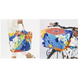 濡れないはっ水風呂敷 季の葉 バッグカバーや自転車のカゴカバーにも。(写真はお届けの柄とは異なります)