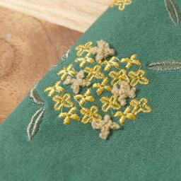 くろちく 刺繍ブックカバー 柄が選べる2個組 (イ)金木犀深緑 立体的なパイル刺繍