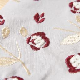 くろちく 刺繍ブックカバー 柄が選べる2個組 (オ)椿グレー 立体的なパイル刺繍
