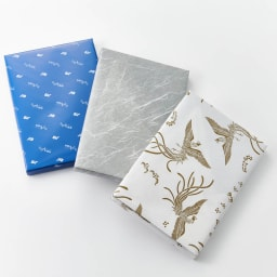 [カタログギフト]たびもの撰華 梓コース(JTBえらべるギフト) 包装紙をお選び下さい。 左より ブルー(通常)グレー(弔事用)鳳凰柄(御祝用)