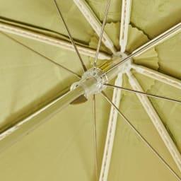 日本製 カットジャカード 刺繍折りたたみ 日傘 骨組みもしっかりしています。 (イ)グリーン
