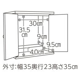 漆器ミニ仏壇 鉄仙 小 外寸:幅35・奥行23・高さ35cm  内寸:幅30奥行18.5高さ31.5cm