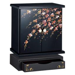 紀州塗 漆器ミニ仏壇 しだれ桜 仏壇・小&置き台 小サイズは、ペットのメモリアルスペースにもおすすめです。