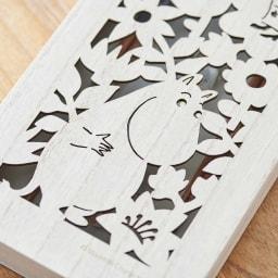 ムーミン 木箱入りペア箸セット 木箱アップ。