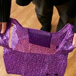 小悪魔Cat エコバッグ&オベントーバッグセット 折り畳みの際のケースが使用時は内ポケットに。
