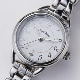 Angel Heart/エンジェルハート ファーストスター シルバー ソーラー時計 時間がわかりやすいアラビア数字表記。