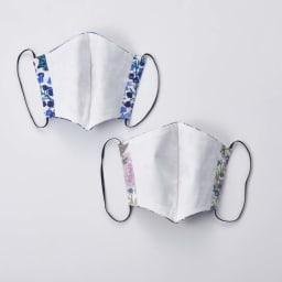 日本製 リバティプリント柄マスク 裏地には綿100%のさらっとした生地を使用。