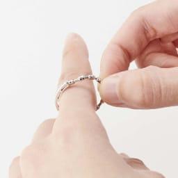 プラチナ×ダイヤ サイズフリーリング