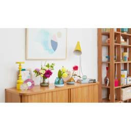 フラワーベース Plakira flowers (花束用) ※イメージカット シリーズで複数揃えれば、トップとボトムを自由に着せ替えられます。お届けの商品とは色の組み合わせが異なります。