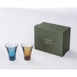 ヤマナミグラス 2個セット Plakira ギフトボックス入りでプレゼントにもおすすめ。