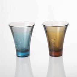 ヤマナミグラス 2個セット Plakira 金沢産の金箔・銀箔をふんだんにあしらった特別感たっぷりのグラス。